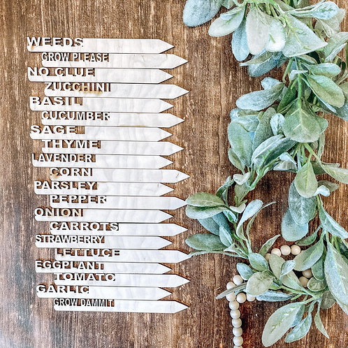 Garden Herb and Produce Markers