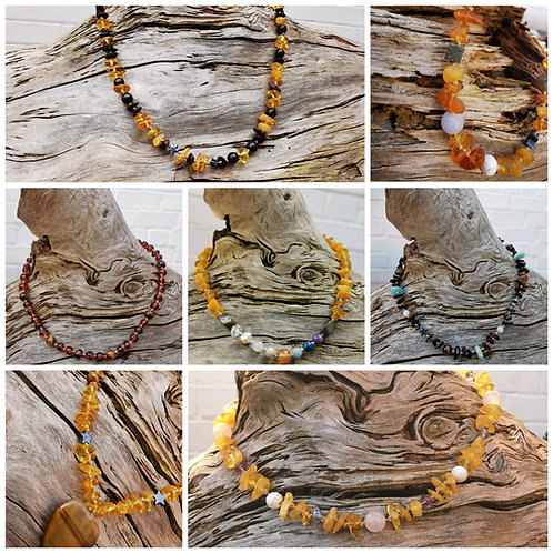 Personalised Amber Necklaces