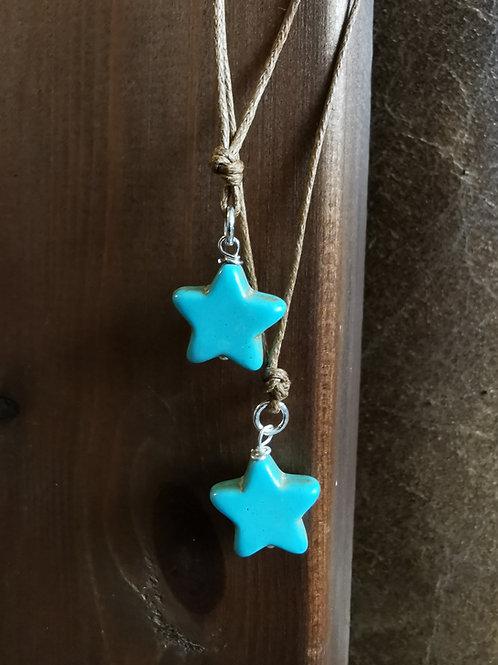 Blue Howlite Star Pendant