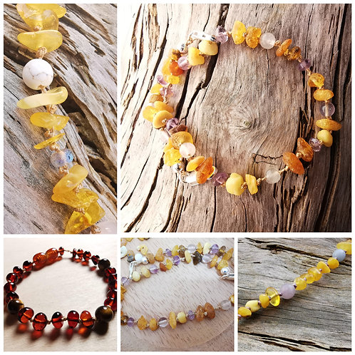 Personalised Amber Anklet