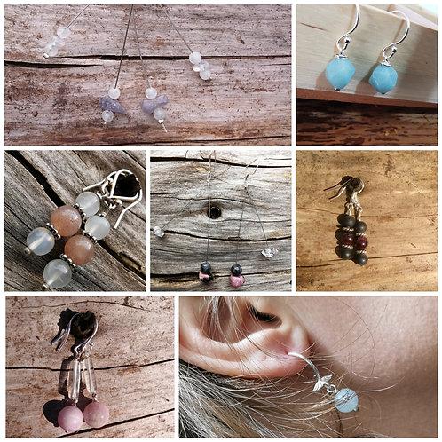 Personalised Crystal Healing Earrings
