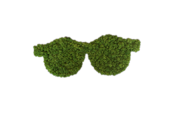 Brille mit Islandmoos 80 cm lang