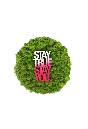 "Moosbild STRENZ INTERIOR ""Stay true stay you"""