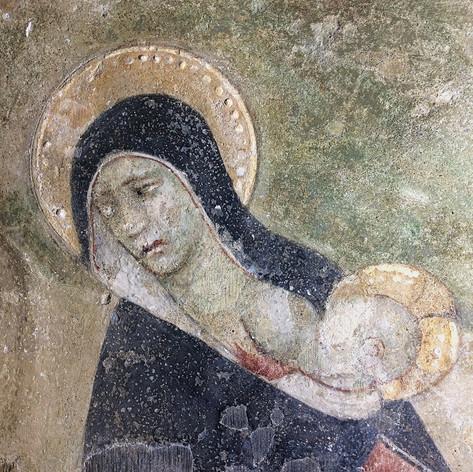 Consolidations d'urgence du cycle de peintures murales du cloître de l'abbaye d'Abondance