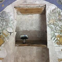 Nettoyage, conservation, restauration des peintures d'un oratoire du XVIIIe s.