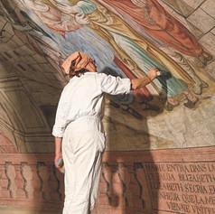 Restauration de l'ensemble du décor à fresque peint par Joseph Isler en 1778.