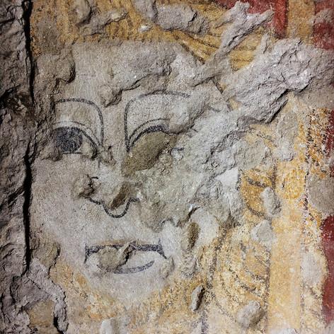 Conservation des peintures du chevet plat de l'ancienne église saint Georges, à Vienne (XIIIe s.)