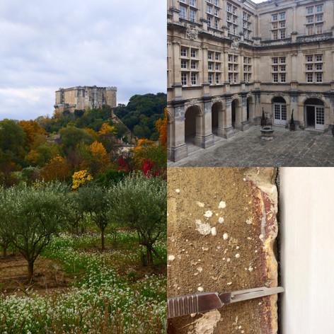 Etude colorimétrique des menuiseries du château de Suze-La-Rousse, Drôme