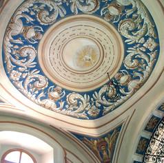 Restauration des peintures murales du choeur de la chapelle de Montgésin