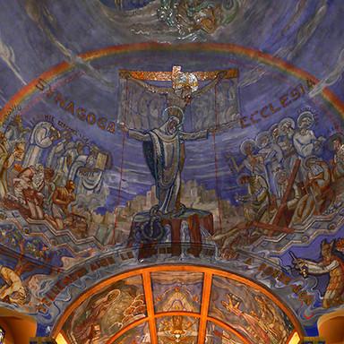 Diagnostic sanitaire des peintures murales et des mosaïques, église Saint Blaise ND Des Malades, à Vichy (03)