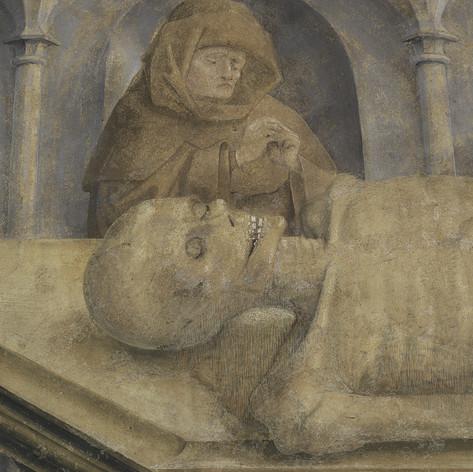 Entretien et restauration de la peinture funéraire de Philibert de Monthouz