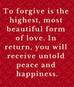 Wednesday Morning Inspiration - Forgiveness!