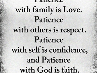 Wednesday Morning Inspiration - Patience!