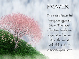 Monday Morning Inspiration - Prayer!