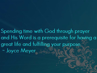 Wednesday Morning Inspiration - Spending Time with God!