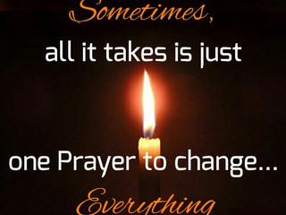 The Power of Prayer!