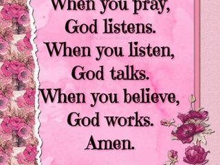 Pray, Trust and Wait!