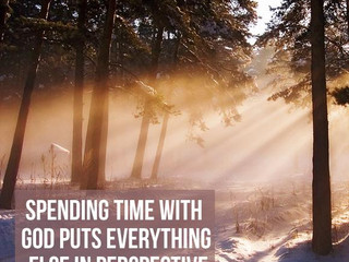 Friday Morning Inspiration - Spending Time with God!