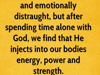 Tuesday Morning Inspiration - Spending Time with God!