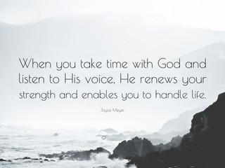 Thursday Morning Inspiration - Spending Time with God!