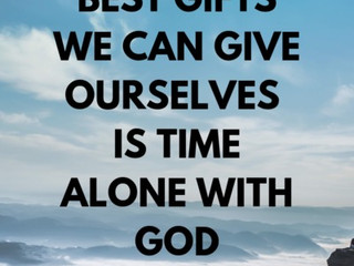 Saturday Morning Inspiration - Spending Time with God!
