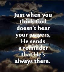 God Hears You!