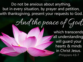 Be Anxious for Nothing!