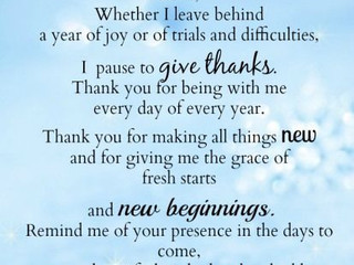 Prayer for the new Year!