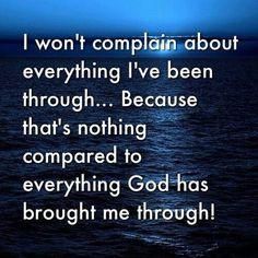 I Won't Complain, I will Trust God!