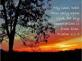 Wednesday Morning Inspiration - Wait on God!