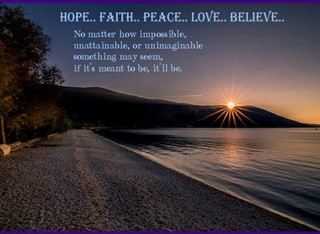 Sunday Morning Inspiration - Faith!