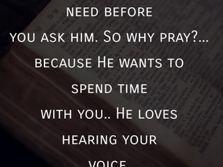 Sunday Morning Inspiration - Spending Time with God!