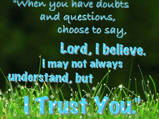 Wednesday Morning Inspiration - Trust God!