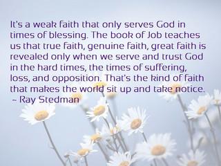 Saturday Morning Inspiration - Trust God!