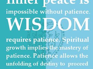 Thursday Morning Inspiration - Patience!