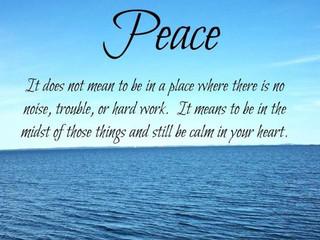 God Brings Peace!