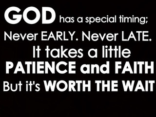 God's Timing!