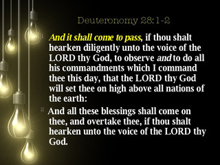 Obeying God Blesses Us!