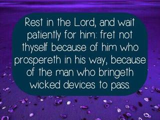 Tuesday Morning Inspiration - Wait on God!