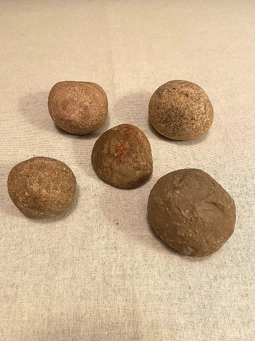 Indian Artifacts Stone Game Balls (5)
