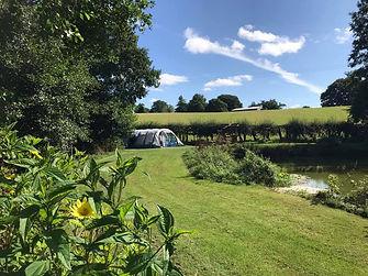 Pre Erected Tent at Colehurst Lake