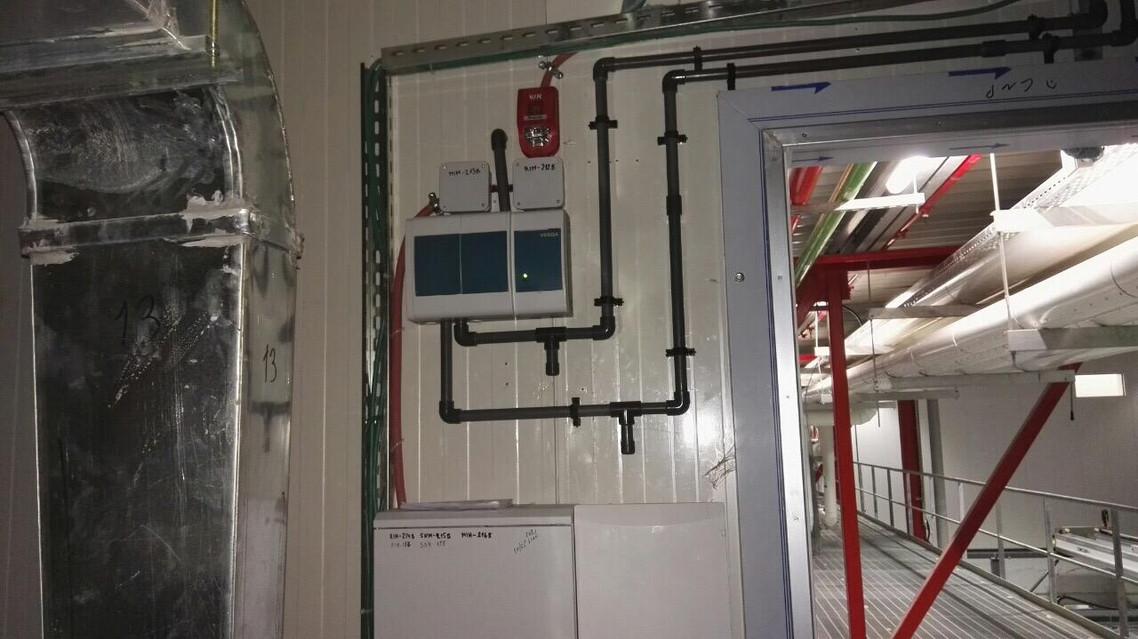 מערכת יניקת עשן + קופסת חיבורים גילוי אש