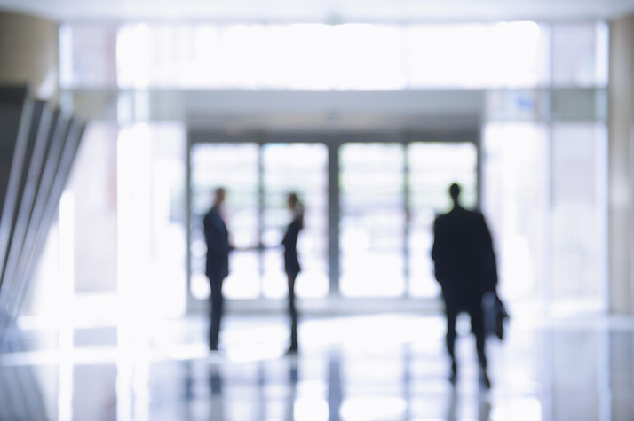Blurred business persone