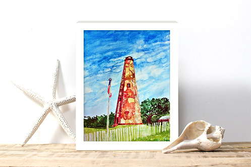 Old Baldy Lighthouse Print - Reproduced Print of Original ($4-$18)