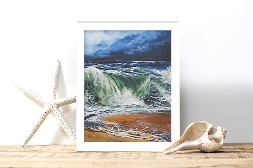Storm Rollin' In Art Print - Reproduced Print of Original Art - ($8-$18)