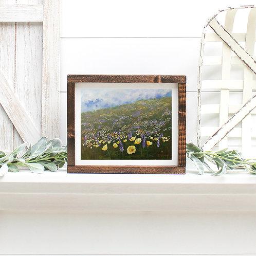 Wildflower Hill - Reproduced Print of Original Art ($8-$18)