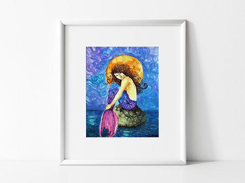Laura of The Moon Mermaid - Reproduced Print of Original Art ($8-$18)