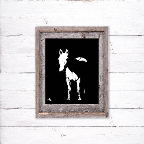 Lucky the Horse - Reproduced Print of Original Art ($8-$18)