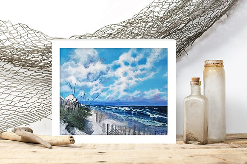 Emerald Isle, NC Print - Reproduced Print of Original Art ($8-$18)
