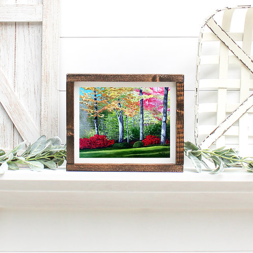 Garden in Greenfield Lake - Reproduced Print of Original Art ($8-$18)